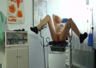 Teen fucks her dad in a gynecologist chair