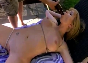 Passed out blonde fucked by her dad outdoors
