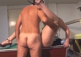 Brunette sucks her dad's big dick on cam