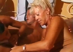 Two tanned hotties in an incest FFM