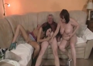 Fantastic family threesome, FFM incest