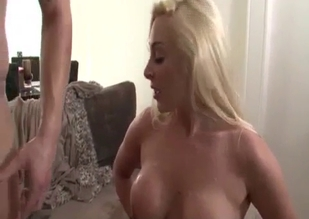 Busty blonde sure loves her brother's cock